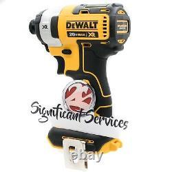 Nouveau Dewalt Dcf887b 20-volt Max Xr 2.0 Ah 3-speed 1/4 Dans La Trousse De Pilote D'impact