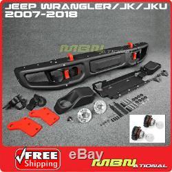 Pare-chocs Avant En Métal Style 07e Anniversaire Pour Jeep Jk Wrangler Rubicon