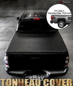 Pour 1999-2007 Silverado / Sierra Fleetside 6.5 Ft Bed Snap-on Vinyle Tonneau Cover
