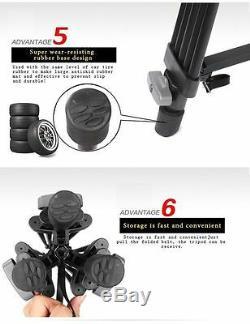 Professional Heavy Duty Caméra Vidéo DV De Trépied Fluide-pan Kit 1800mm 72 Pouces
