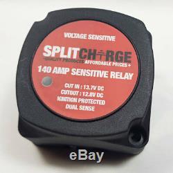 Relais De Split Charge Kit 2 Mtr 12v 140 Ampères Sensible À La Tension Heavy Duty Ready Made