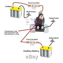 Robuste Double / Batterie Auxiliaire Isolateur Avec Câbles Cuivre Complete Mèches Kit