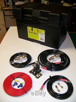 Robuste Double / Batterie Auxiliaire Isolateur Avec Câbles Kit Complet! 150a
