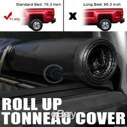 Roll-up En Vinyle Souple Tonneau Couverture Convient 09-18 Dodge Ram 6.4 Ft 76,8 Truck Bed