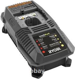 Ryobi Impact Wrench Kit 18-volt 1/2 Po. Led Light Brushed Motor Cordless 3-speed