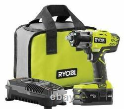 Ryobi P1833 Cordless Impact Wrench 3 Speed 1/2 18v Kit Avec Batterie & Chargeur Nouveau