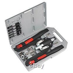 Sealey Heavy Duty Fileté Nut Pop Rivet / Riveteuse Gun Kit / Set Ak39602