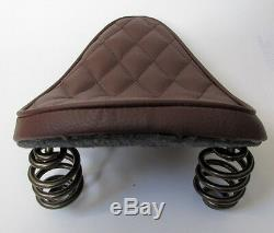 Solo Seat Kit Complet Ressorts Et Support Heavy Duty Brown Harley Chopper Bobber