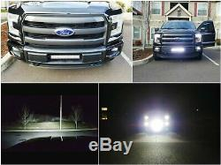 Système Complet De Barres Lumineuses Led Pour Montage De Grilles De Pare-chocs Inférieur Complet Pour Ford F-150 À Partir De 2015