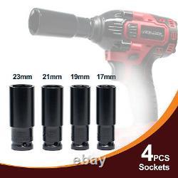 Toolman Cordless Impact Wrench Kit 21v Avec Drill Set 7 Pcs Heavy Duty 310n.m Tq