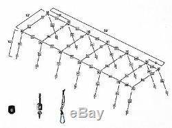 Trapèze Batting Cage Kit Frame 12' X 12' X 55' Heavy Duty Baseball / Softball