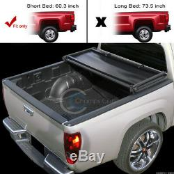 Tri-fold Couvre-bagages Souple Pour 05-15 Toyota Tacoma Double / Équipage 5 Ft Courte