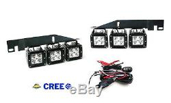 Triple 120w Led Light Kit Brouillard Withlower Pare-chocs Support / Câblages Pour 17+ Ford Raptor
