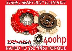 Yonaka Heavy Duty Série B Performance D'embrayage Set Kit Étape 3 400hp Honda CIVIC